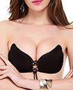Winged Shaped Women Silicone Adhesive Push Up Gel Strapless Invisible Bra
