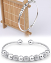 925 Sterling Silver Bead Bangle