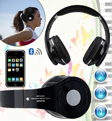 Multi Function Bluetooth Wireless Headphones with Micro-SD Slot and FM Radio
