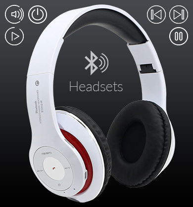 Bluetooth TF MIC Handsfree 150mAh UV Processed  Headset with Cables