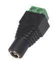 DC Power Female 5.5 x 2.1mm Jack Connector Cable Adapter for CCTV Camera