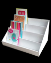 4 Tier White Collapsible Cardboard Greeting Card Display Stand