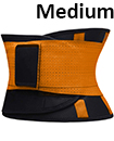 Sport Waist Cincher Girdle Belt Body Shaper Tummy Trainer Belly Training Corsets M Orange