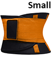 Sport Waist Cincher Girdle Belt Body Shaper Tummy Trainer Belly Training Corsets S Orange