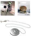 New Ultra Basin Plug & Ball Chain Chrome Metal Sink Waste Bathroom Tap