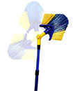 Extendable Cobweb Brush Angled Head Feather Duster Long Reach Telescopic Handle