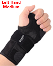 Carpal Tunnel Support Adjustable Brace Splint Arthritis Left Hand M