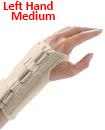 Carpal Tunnel Support Adjustable Brace Splint Arthritis Left Hand M