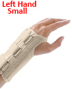 Carpal Tunnel Support Adjustable Brace Splint Arthritis Left Hand   S