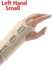 Carpal Tunnel Support Adjustable Brace Splint Arthritis Left Hand   S