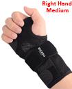 Carpal Tunnel Support Adjustable Brace Splint Arthritis Right Hand M