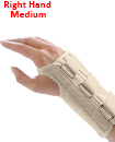 Carpal Tunnel Support Adjustable Brace Splint Arthritis Right Hand M