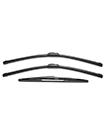 Vauxhall Corsa MK2/C Hatchback Aero VU 2x Front Flat & Rear Fit Wiper Blades Set