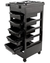 Salon Hairdresser Barber Beauty Storage Trolley with 5 Pullout Drawers