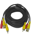 10 Meter BNC CCTV Camera Cable Video Phono Mic Pow