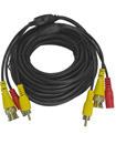 5 Meter BNC CCTV Camera Cable Video Phono Mic Powe