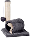 Cat Kitten Sisal Scratch Post Bed Toy With Tunnel & Mouse Pet Activity Play Fun