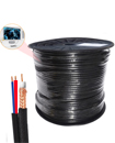 High Quality 100 Meter Shotgun RG59 Video And 2 Power CCTV Cable Lead