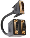 DVI-D Male to 2 DVI-D Female Gold Plated Adapter C