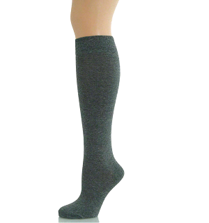 KNEE SOCKS GIRLS LONG SOCKS-GIRLS KNEE LENGTH SOCKS DARK GREY