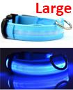 USB Rechargable LED Dog Pet Collar Flashing Luminous Safety Light Up Nylon Large Blue color