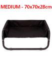 Dog Pet Bed Portable Waterproof Outdoor Raised Camping Basket       MEDIUM - 70x70x28cm.