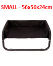 Dog Pet Bed Portable Waterproof Outdoor Raised Camping Basket       SMALL - 56x56x24cm.