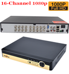 16 Channel 1080P 5 in 1 DVR XVR 3531A 8GB RAM 16M FLASH, 4x 2826 25FPS Play Back FPS VGA Port Mobile Software