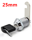 25mm Cam Lock for Door Cabinet Mailbox Drawer Cupboard + 2 Keys