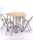 Extending Dining Table and 4 Chairs Small Kitchen