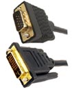 High Quality 2.5Meter DVI-I Male to VGA Male Cable
