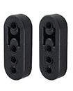2 X Universal Black Heavy Duty Rubber Exhaust Mount Brackets Hangers