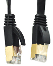 1 Meter Flat RJ45 CAT7 Ethernet Network Cable LAN
