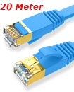 Flat CAT7 Ethernet Network Cable LAN Patch Cord SSPT Gigabit Lot 20M