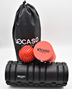 Locaso Fitness 2 in 1 Foam Roller Exercise With Massage Ball and Carry Bag