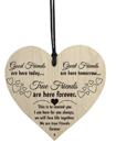Good Friends Plaque Sign Best Friend Gift Shabby Chic Heart Birthday Valentine
