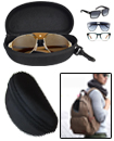 Black Sunglasses Reading Glasses Carry Case Bag Ha