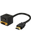 HDMI Male to HDMI/DVI-D Female Gold Plated Adapter Cable