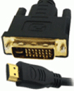 Gold Plated 1.5 Meter HDMI (19 Pin) Male to DVI-D