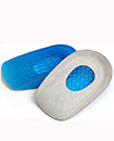 Gel Heel Cushions Orthotic Heel Support Pad Pain Relief Foot Cup Shoe Insoles