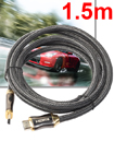 Premium 1.5 Meter V2.0 HDMI Cable Gold High Speed HDTV Ultra HD 2160p 4K 3D