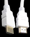 Gold Plated White 5 Meter HDMI V1.4 (19Pin) Male to Male cable