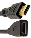 2 Meters HDMI Male to female 19 Pin Gold Plated cable