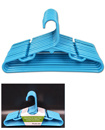 10x 29cm Childrens Plastic Bar Hangers Clothes Coat Baby Trouser Skirt