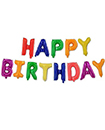 Large Happy Birthday Self Inflating Balloon Banner Bunting Party Decoration