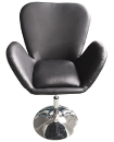 Black Leather Style Beauty Salon Hairdresser Chair