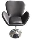Black Leather Style Beauty Salon Hairdresser Chair