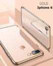 Luxury Case Cover for iPhone 6 Clear Electro Plated Ultra Slim Shockproof Silicone