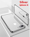 Luxury Case Cover for iPhone 8 Clear Electro Plated Ultra Slim Shockproof Silicone