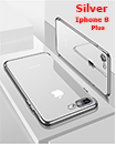 Luxury Case Cover for iPhone 8 Plus Clear Electro Plated Ultra Slim Shockproof Silicone